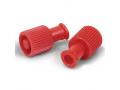 Image Of Red Syringe Locking Caps, Dual-Function