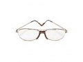 Image Of Today's Optical Half Eye Reading Glass +3.00 Power, Metal Frame. Gold
