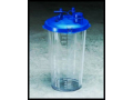 Image Of Suction Canister Medi-Vac Guardian 2000 mL Shut-Off Valve / Locking Lid