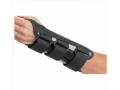 Image Of Wrist Splint BATH Double Contoured Canvas / Aluminum Palmar Stay Left Hand Black Small