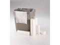 Image Of Trash Bag Institutional Medium Duty 20 - 30 gal Natural HDPE 10 Mic 30 X 37 Inch Star Seal Bottom Twist Tie Coreless Roll