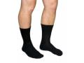 Image Of Diabetic Compression Socks Crew Medium Black Closed Toe