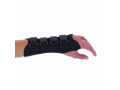 Image Of Wrist Support PROCARE Contoured Suede / Flannel Right Hand Black Medium