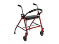 Image Of 2 Wheel Rollator drive Red