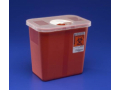 Image Of Multi-purpose Sharps Container SharpSafety 1-Piece 10H X 105W X 725D Inch 2 Gallon Translucent Base Rotor Lid
