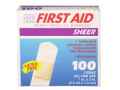 Image Of Adhesive Strip American White Cross First Aid 1 X 3 Inch Plastic Rectangle Sheer Sterile