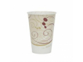 Image Of Drinking Cup Solo 7 oz Symphony Print Wax Coated Paper Disposable