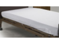 Image Of Bed Sheet Fitted 36 X 80 X 6 Inch White Cotton / Polyester Reusable