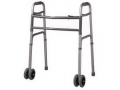 Image Of Bariatric Heavy-Duty Folding Walker with Wheels, Adult