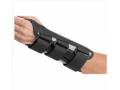 Image Of Wrist Splint BATH Double Contoured Canvas / Aluminum Palmar Stay Right Hand Black Small