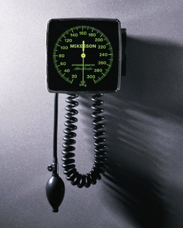 Image Of Aneroid Sphygmomanometer McKesson LUMEON Wall Mount 2-Tube Adult Size Arm