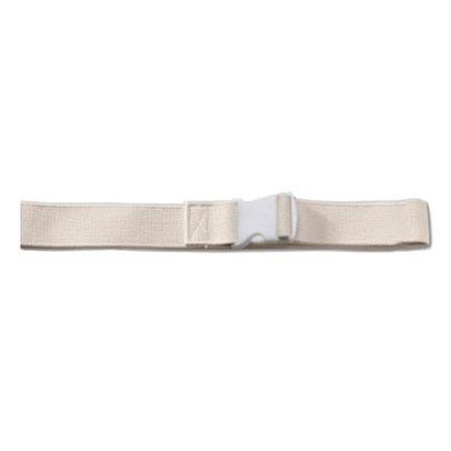 "Image Of Gait Belt, Plastic Buckle, White, 72"""