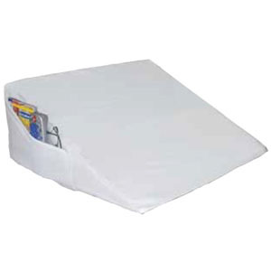 """Image Of Foam Bed Wedge with Pocket, White, 20"""" x 20"""" x 10"""""""