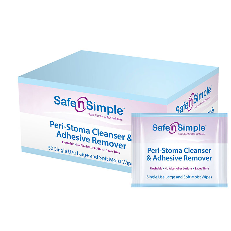 Image Of Peri-Stoma Cleanser and Adhesive Remover Wipe