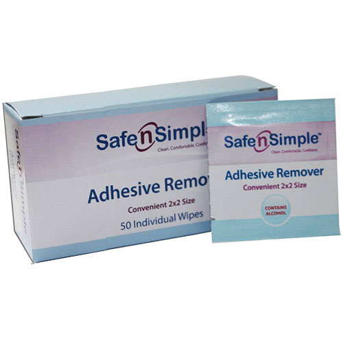 Image Of Safe N Simple Adhesive Remover Wipe