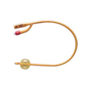 Image Of Gold 2-Way Silicone-Coated Foley Catheter 26 Fr 30 cc