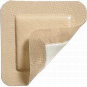 "Image Of MediPlus-Comfort Foam Border Ag Island Sacral Dressing, 8.7"" x 8.7"", Pad Size 5.0"" x 5.7"""