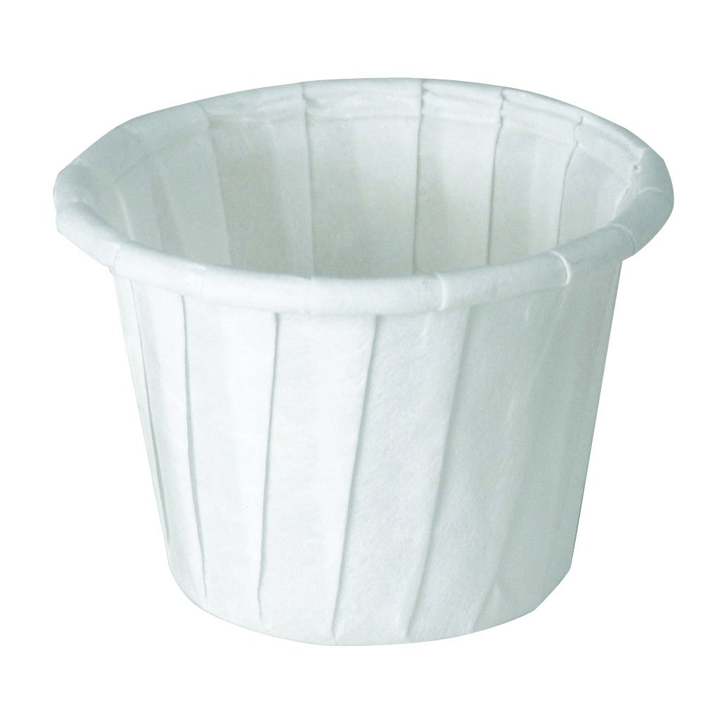 Image Of Souffle Cup Solo 075 oz White Paper Disposable