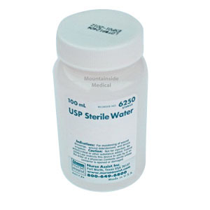 Image Of USP Sterile Water Screw Top Container 100mL For Wound Care Use