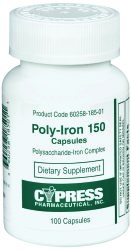 Image Of Iron Supplement Poly-Iron 150 mg Strength Capsule 100 per Pack