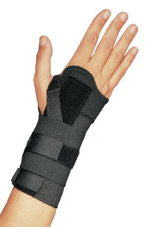 Image Of Wrist Splint PROCARE Elastic Left or Right Hand Black X-Large