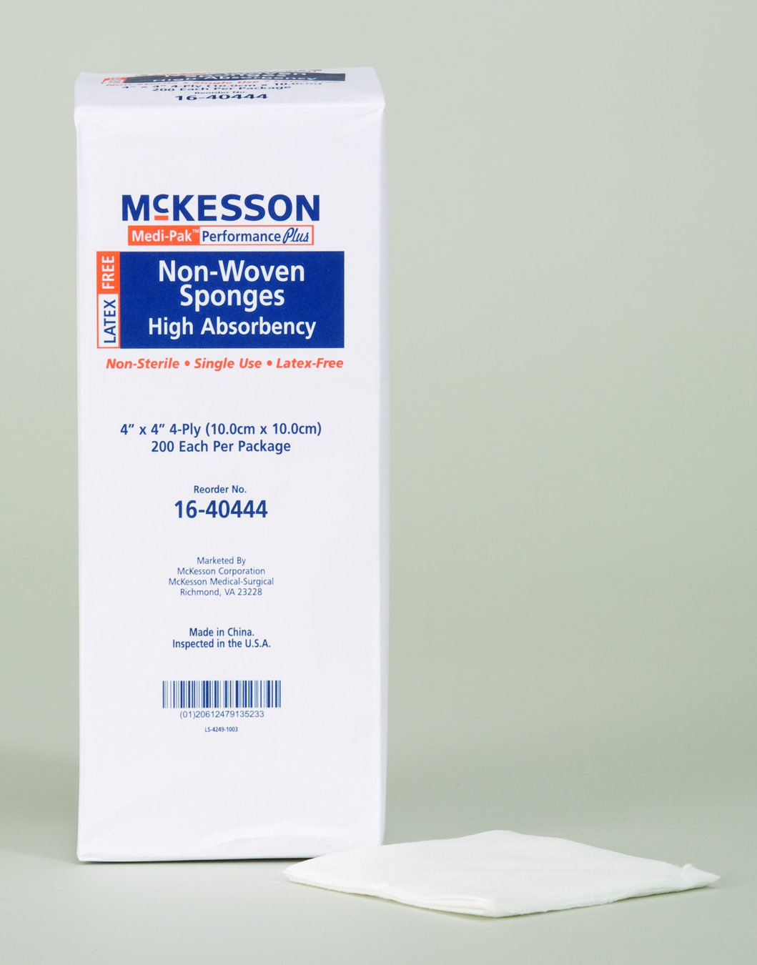 Image Of NonWoven Sponge McKesson Polyester / Rayon 4-Ply 2 X 2 Inch Square NonSterile