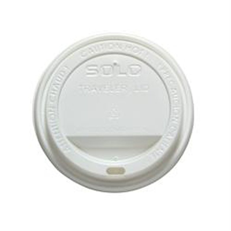Image Of Dome Lid Traveler White Polystyrene Sip Hole Hot Applications