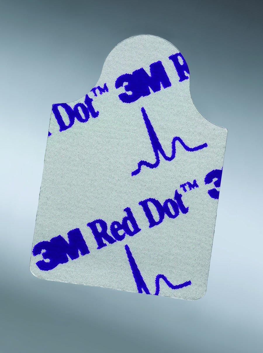 Image Of EKG Tab Electrode 3M Red Dot Resting Radiolucent 100 per Bag