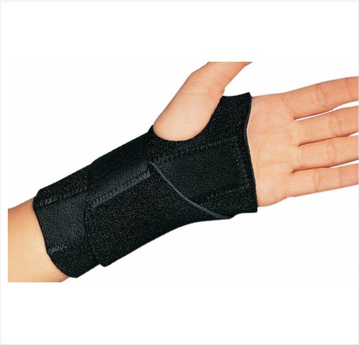 Image Of Wrist Splint Cinch-Lock Neoprene Left Hand Black One Size Fits Most