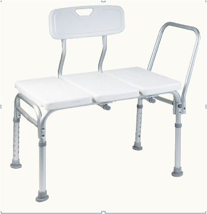 "Image Of Transfer Shower Bench, 25"" Seat, Seat Depth 16"" 300 lb Capacity, 28.5"" Depth 17.5"""