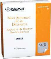 "Image Of Reliamed Hydrocolloid Non-Adhesive Bordered, Sterile, Latex-Free, 4"" x 4"", 10/box"